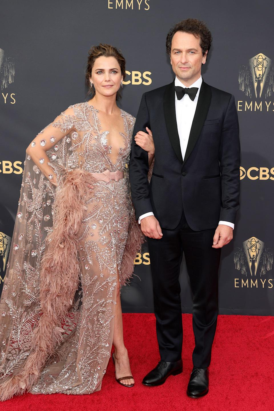 """<h1 class=""""title"""">Keri Russell in Zuhair Murad Couture and Matthew Rhys</h1><cite class=""""credit"""">Photo: Getty Images</cite>"""