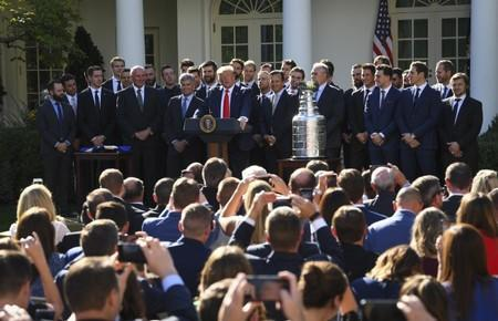 NHL: Stanley Cup Champions-St. Louis Blue White House Visit