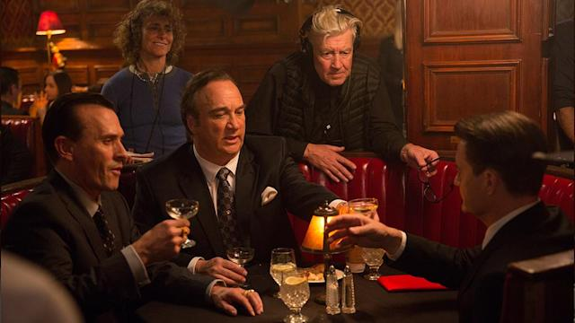 <p>Robert Knepper, Jim Belushi, Lynch and MacLachlan.<br>(Photo: Showtime/Paramount/CBS Home Entertainment) </p>