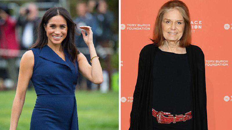 Meghan Markle and Gloria Steinem sat down for an exclusive chat this week. Photo: Getty Images
