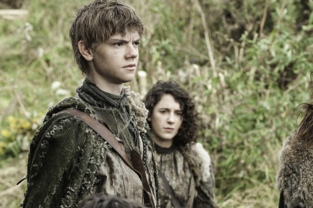 "Thomas Brodie Sangster and Ellie Kendrick in the ""Game of Thrones"" episode, ""The Rains of Castamere."""