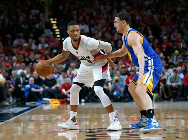 Damian Lillard is a quality option for those who miss out on the top two point guards in their Yahoo fantasy drafts. (Photo by Jonathan Ferrey/Getty Images)