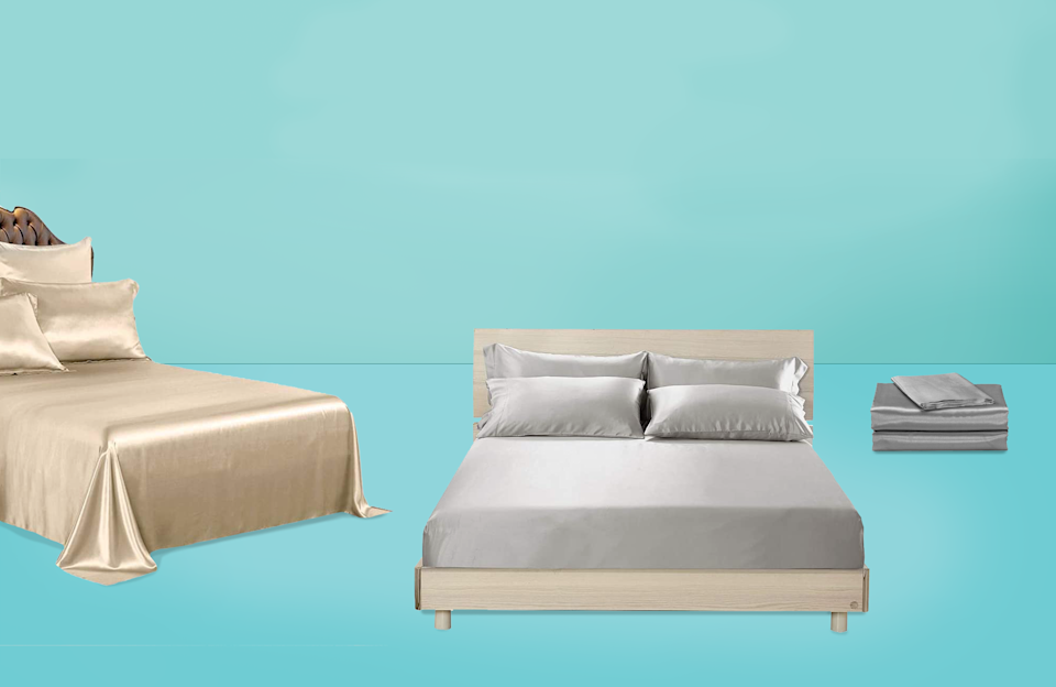 """<p>There's no material more luxurious than silk: It's a natural fiber that's incredibly smooth and has built-in temperature-regulating properties. We've been fans of <a href=""""https://www.goodhousekeeping.com/home-products/best-sheets/g3948/best-silk-pillowcases/"""" rel=""""nofollow noopener"""" target=""""_blank"""" data-ylk=""""slk:silk pillowcases"""" class=""""link rapid-noclick-resp"""">silk pillowcases</a> for years because of <a href=""""https://www.goodhousekeeping.com/home-products/a28037094/silk-pillowcases-benefits/"""" rel=""""nofollow noopener"""" target=""""_blank"""" data-ylk=""""slk:the legit benefits of silk"""" class=""""link rapid-noclick-resp"""">the legit benefits of silk</a>: They can help prevent bedhead and wrinkles (not to mention, they're super comfy to sleep on). The good news is you can take it to the next level by wrapping your entire body in silk all night long.</p><p>The <a href=""""https://www.goodhousekeeping.com/institute/about-the-institute/a19748212/good-housekeeping-institute-product-reviews/"""" rel=""""nofollow noopener"""" target=""""_blank"""" data-ylk=""""slk:Good Housekeeping Institute"""" class=""""link rapid-noclick-resp"""">Good Housekeeping Institute</a> Textiles Lab tests real silk and synthetic satin fabric for things like durability, smoothness, washability, and moisture management capabilities. We also send silk pillowcases home with consumer testers to sleep on and provide in-depth feedback. On top of that, we perform extensive tests on <a href=""""https://www.goodhousekeeping.com/home-products/best-sheets/g3038/best-sheets-reviews/"""" rel=""""nofollow noopener"""" target=""""_blank"""" data-ylk=""""slk:bed sheet"""" class=""""link rapid-noclick-resp"""">bed sheet</a> fabrics of all kinds. The picks below are either from our top-tested brands or popular styles with unique features and rave reviews from users.</p><h2>How to choose the best silk sheets</h2><p>Silk sheets are expensive, so you want to make sure you're investing in ones that are actually worth the splurge. Here's what to look for in silk sheets:</p><ul><li><strong>M"""