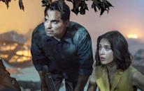 """<p>The family in <strong>A Quiet Place</strong> are relatable because they're so normal, and the same can be said for the family at the heart of <strong>Extinction</strong>. Peter (Michael Peña) and Alice (Lizzy Caplan) are living a mundane life until an alien invasion forces them to step up and face the apocalypse in order to protect their kids. But with their children's futures on the line, these two suburban parents quickly get in touch with their inner badasses. </p> <p><a href=""""https://www.netflix.com/watch/80236421"""" class=""""link rapid-noclick-resp"""" rel=""""nofollow noopener"""" target=""""_blank"""" data-ylk=""""slk:Watch Extinction on Netflix."""">Watch <strong>Extinction</strong> on Netflix.</a></p>"""
