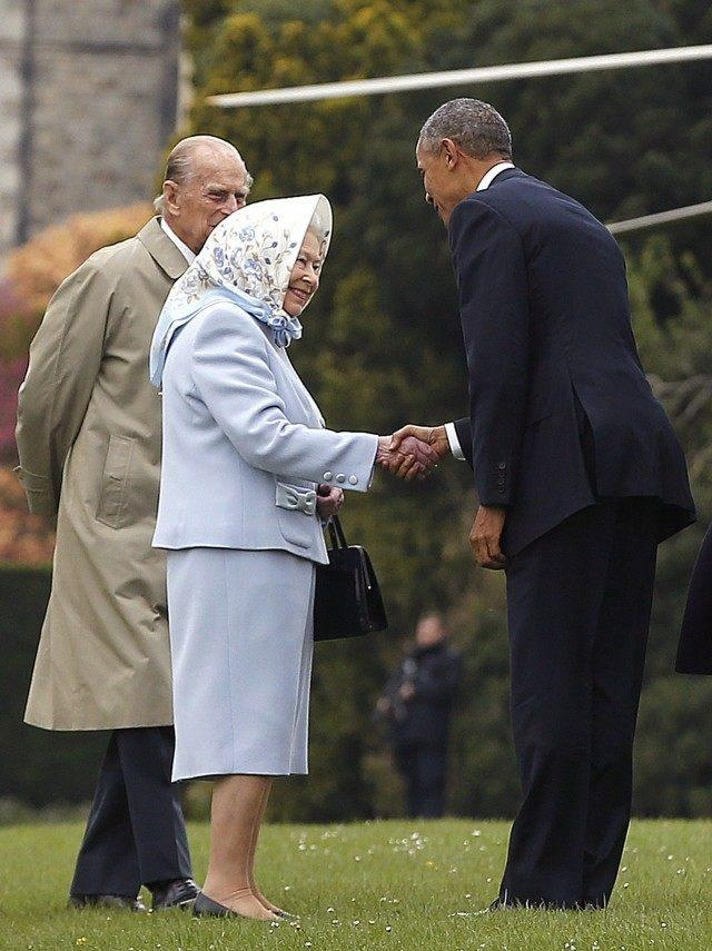 Queen Elizabeth and President Obama in 2016
