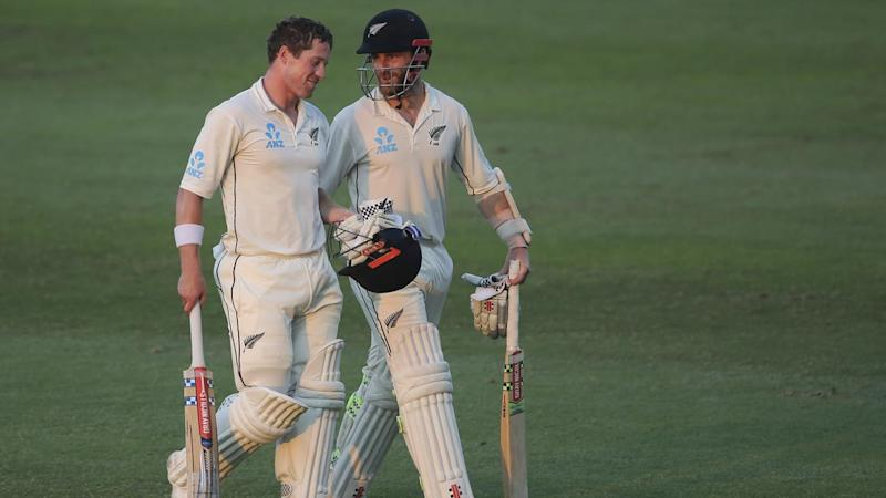 Henry Nicholls (left) and Kane Williamson have battled illness in the lead up to the SCG Test