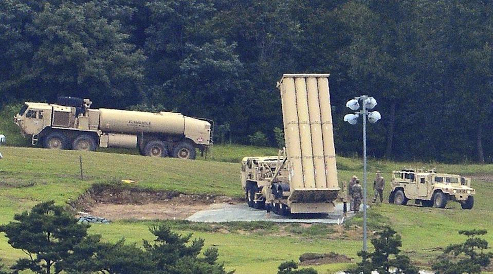 The US THAAD system was installed in South Korea in 2017. Photo: AP