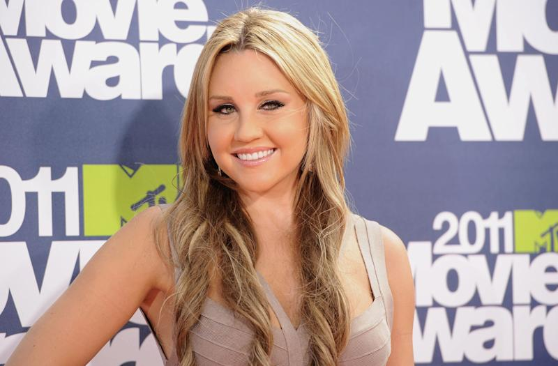 Amanda Bynes arrives at the 2011 MTV Movie Awards. (Photo by Jason Merritt/Getty Images)