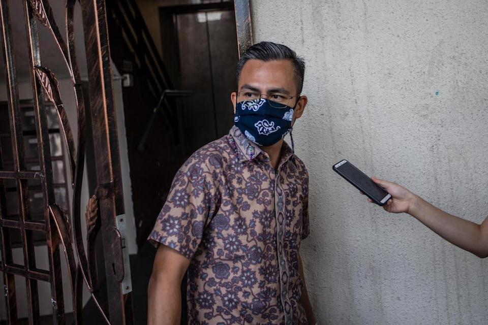 The PKR communications director said in a tweet that he had received two letters emailed to him by the Clerk of the House, one from Datuk Azhar Azizan Harun and the other from Datuk Mohd Rashid Hasnon. — Picture by Firdaus Latif
