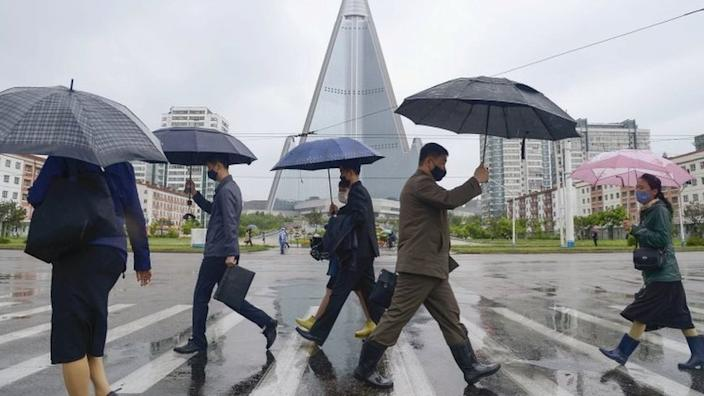In North Korea, it is compulsory for people to wear masks in public places