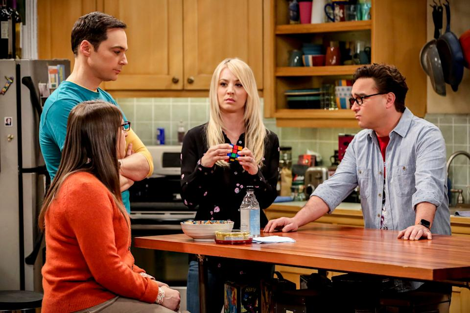 Kaley Cuoco, left, seen with 'Big Bang Theory' co-star Johnny Galecki, has a new show, HBO Max's 'The Flight Attendant,' but her previous sitcom megahit still has a big presence in popular culture.