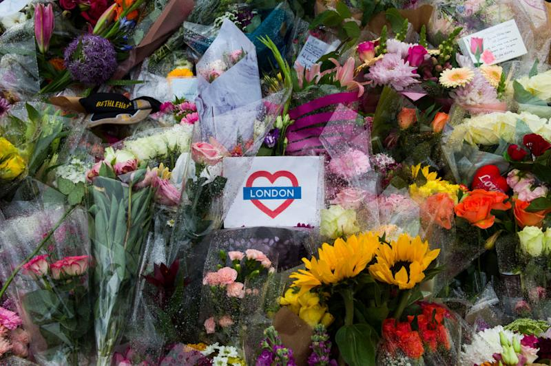 Flowers are laid on the south side of London Bridge (Dan Kitwood/Getty Images)