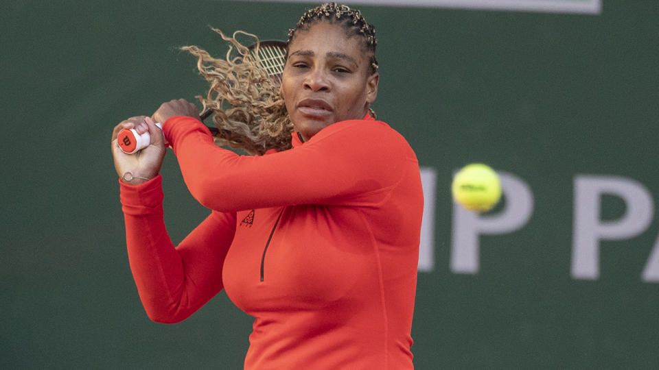 Serena Williams, pictured here preparing for the French Open.