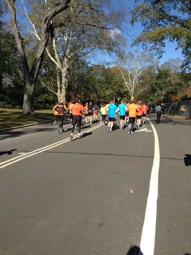 International #unofficial #nycmarathon runners.