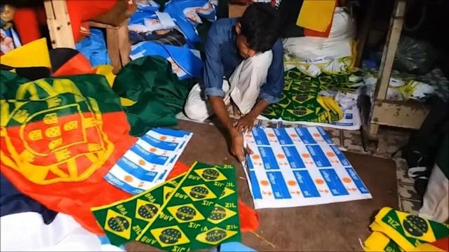 Flagmakers in Bangladesh are doing a roaring trade weeks ahead of the World Cup, but no-one is interested in the home nation's colours -- the money is all on pennants for Lionel Messi's Argentina and Neymar's Brazil.