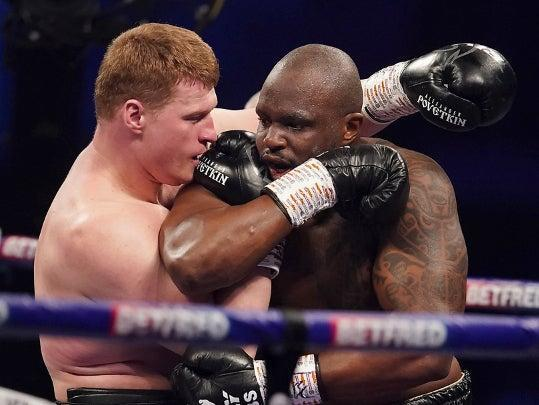 <p>Whyte beat Povetkin to become the top world heavyweight contender</p> (Matchroom)