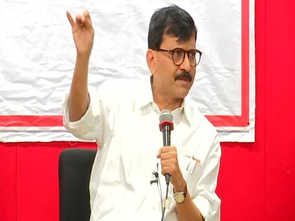 Shiv Sena MP Sanjay Raut speaking to mediapersons in Pune on Saturday. Photo/ANI