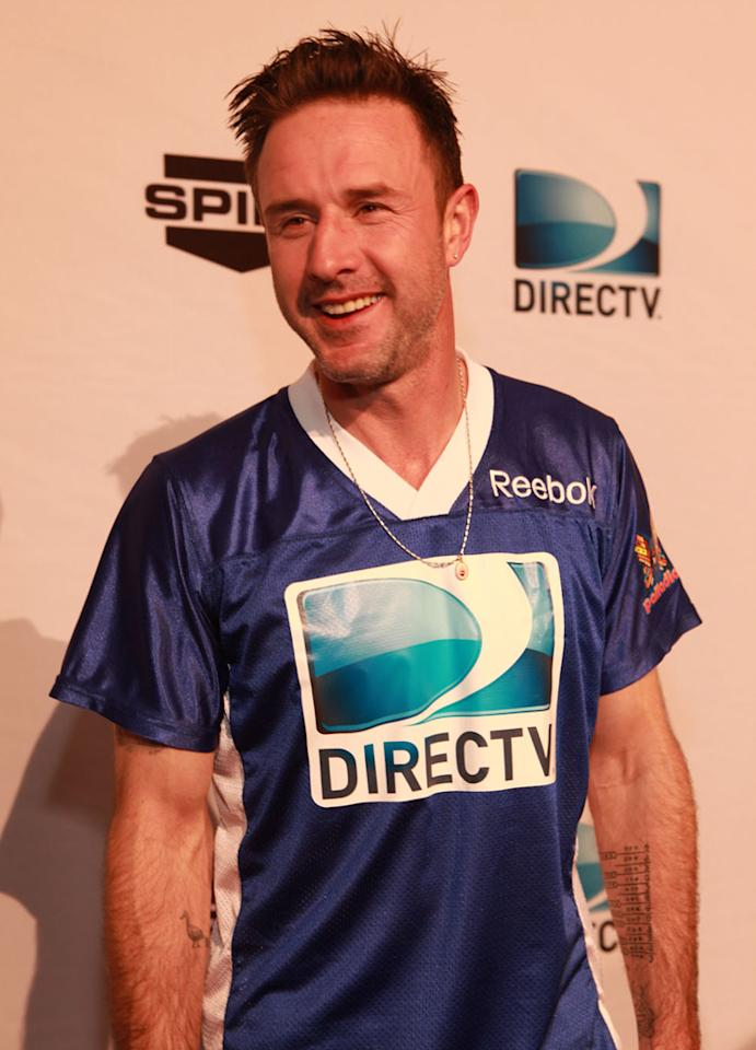 David Arquette arrives at the DirecTV Celebrity Beach Bowl in Indianapolis.