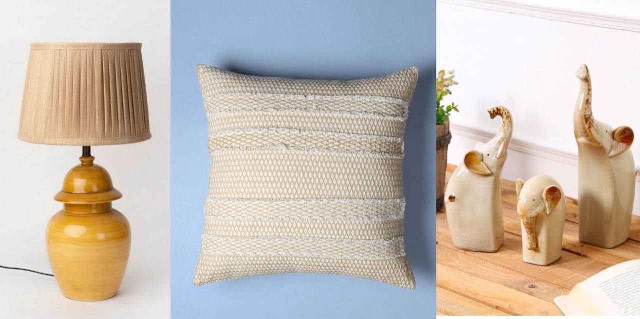 Beige coloured minimal home decor pieces to invest for your humble abode.