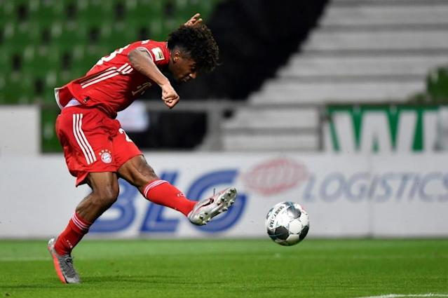 Bayern Munich's Kingsley Coman has scored six goals in 32 games across all competitions this season (AFP Photo/Martin MEISSNER)