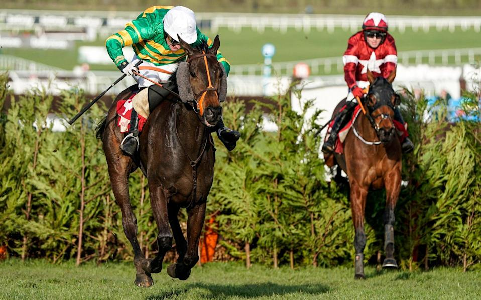 Easysland beats Tiger Roll at the Cheltenham Festival this year - GETTY IMAGES