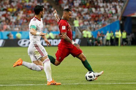 Soccer Football - World Cup - Group B - Iran vs Portugal - Mordovia Arena, Saransk, Russia - June 25, 2018 Portugal's Ricardo Quaresma scores their first goal REUTERS/Matthew Childs