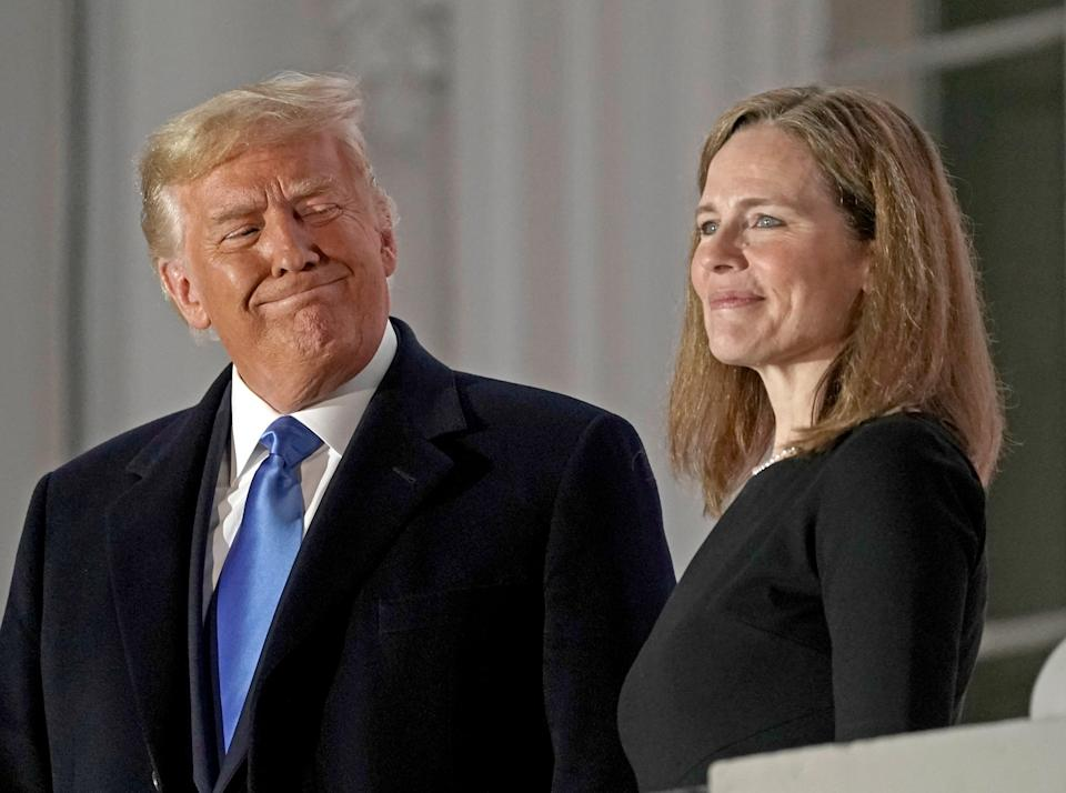 """<p>Donald Trump has said the Supreme Court didn't have the """"guts or the courage"""" to hear election challenges</p> (EPA)"""