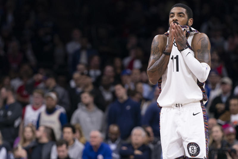 Nets star Kyrie Irving probably should've kept his comments private. (Mitchell Leff/Getty Images)