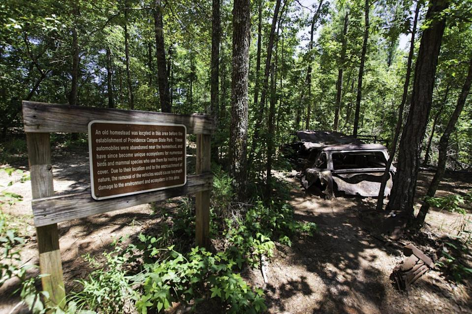 Abandoned cars in Providence Canyon State Park