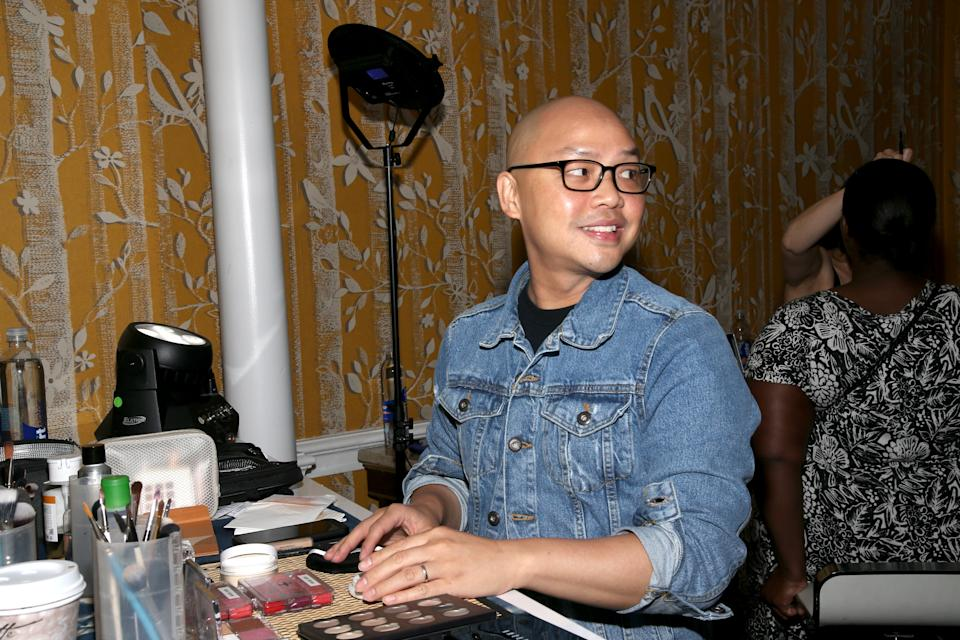 at a Hilton Passport Project event at New York Hilton Midtown in celebration of Passport Awareness Month on Saturday, Sept. 8, 2018, in New York City. At the event, Hilton offered full passport application acceptance during weekend hours. As an added bonus, celebrity makeup artist, Daniel Martin, provided attendees with tips and touch-ups to ensure they have a picture-perfect passport photo. For more information, visit hiltonpassportproject.com