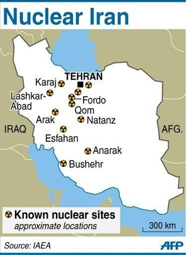 "Graphic showing known nuclear sites in Iran. The IAEA says it wants Iran to allow it to visit sites, talk to officials and examine documents related to activities ""related to the development of a nuclear explosive device"" -- mostly in the past but possibly still ongoing"