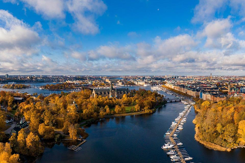 View Of City And River, Ostermalm, Stockholm, Sweden