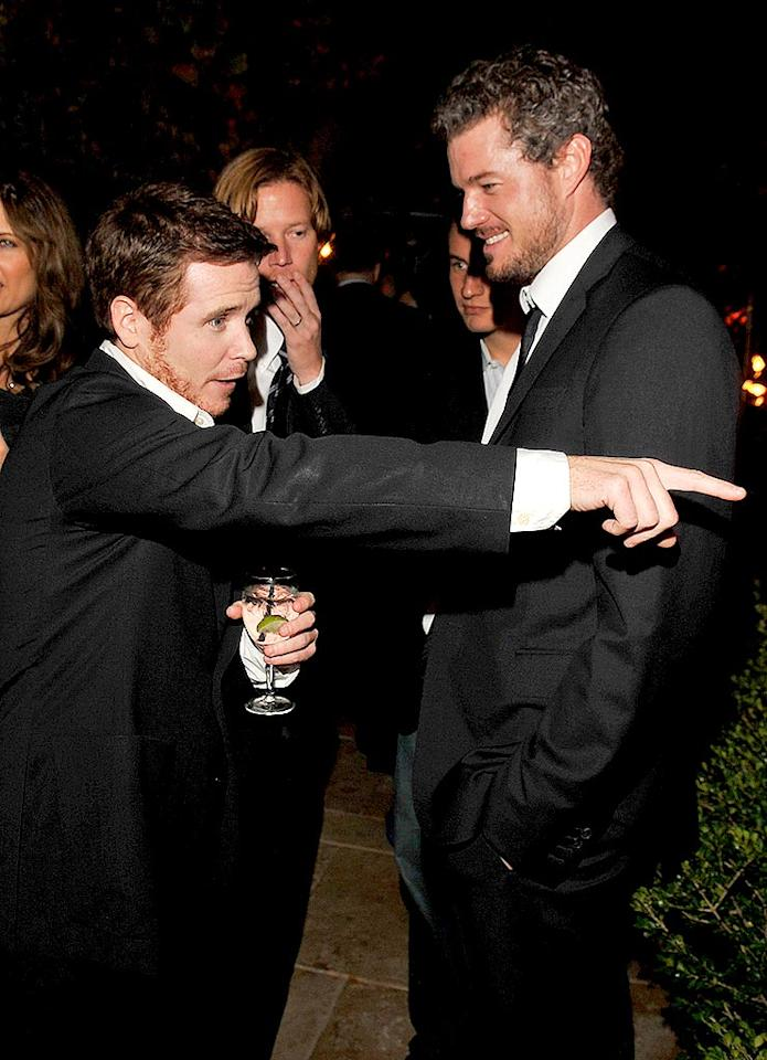 """""""Look, I knew there was a guy shorter than me,"""" Kevin Connolly points out to Eric Dane. Lester Cohen/<a href=""""http://www.wireimage.com"""" target=""""new"""">WireImage.com</a> - December 5, 2007"""