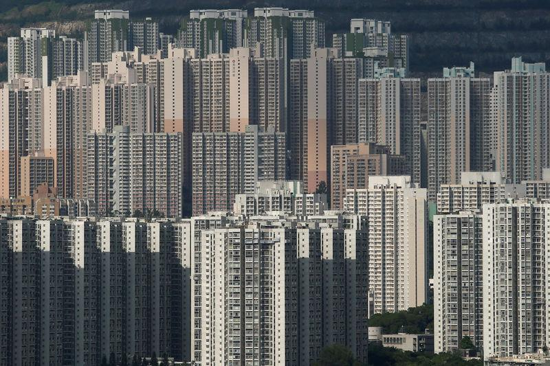 FILE PHOTO: Public and private housing blocks are seen in Hong Kong