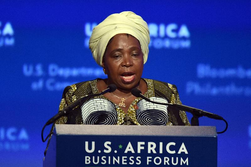 """Nkosazana Dlamini-Zuma, pictured, told an African Union meeting in Addis Ababa on Monday: """"Fighting Ebola must be done in a manner that doesn't fuel isolation."""" Clarice Africa Business Forum on the sideline of the US-Africa Leaders Summit in Washington, DC, on August 5, 2014. US companies are planning $14 billion worth of investments in Africa, a White House official said Tuesday as Washington seeks to strengthen commercial ties during the historic US-Africa Leaders Summit. With the United States seeking to counter the Chinese and European trade dominance in Africa, a White House official said the investments will span a range of industries, including construction, clean energy, banking, information technology, and others. AFP PHOTO/Jewel Samad (AFP Photo/Jewel Samad)"""