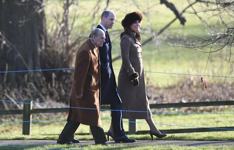 The royals were attending a Sunday service at St. Mary Magdalene Church in Sandringham. Photo: Getty Images