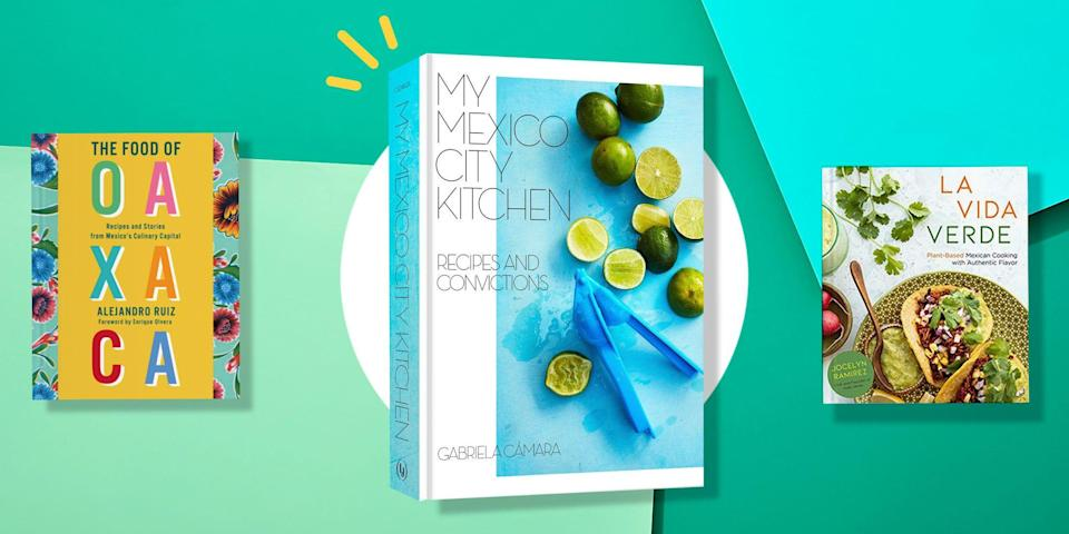 """<p><a href=""""https://www.womenshealthmag.com/food/g35980208/vegan-mexican-recipes/"""" rel=""""nofollow noopener"""" target=""""_blank"""" data-ylk=""""slk:Mexican food"""" class=""""link rapid-noclick-resp"""">Mexican food</a> has been adapted by cultures around the world. With lots of Americanized spins put on it, you may not be aware of the origin of the dishes you frequently enjoy at your favorite local Mexican restaurant. That's why <a href=""""https://www.womenshealthmag.com/food/g36147437/asian-authored-cookbooks/"""" rel=""""nofollow noopener"""" target=""""_blank"""" data-ylk=""""slk:cookbooks"""" class=""""link rapid-noclick-resp"""">cookbooks</a>, especially from authors of Mexican descent, can be such helpful resources—they allow you to experience the stories and food from the culture as you recreate the meals. </p><p>""""There is so much more than one kind of food that qualifies as Mexican food—cookbooks play an important role as chronicles of food through the specific lens of the authors,"""" says Annelies Zijderveld, author of <em>Steeped: Recipes Infused with Tea </em>and a member of <a href=""""https://equityatthetable.com/directory/annelies-zijderveld/"""" rel=""""nofollow noopener"""" target=""""_blank"""" data-ylk=""""slk:Equity at the Table"""" class=""""link rapid-noclick-resp"""">Equity at the Table</a>. """"I am still learning about regional Mexican cuisines outside of where my family is from, and it's a discovery to taste and paint beyond the lines of what I think of as Mexican food."""" </p><p>Zijderveld loves to read about different authors' takes on the same dishes, which can change from region to region and family to family, she explains. """"Having their voices speak from the page and guide [you] in the kitchen keeps dishes alive and offers new perspectives,"""" Zijderveld says. """"The other part here is this idea of Mexican diaspora: I'm just as interested, if not more interested, to see how the food changes as its people move."""" </p><p>To read up on some of these incredibly flavorful recipes (enchiladas! tamales! flan! churros!) and the stor"""