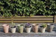"""<p>These everyday pots are versatile enough to grow anything in, both indoor and out. They're made using agricultural waste, including coffee husk, mixed with plant fibres – this creates an advanced biodegradable composite. </p><p><a class=""""link rapid-noclick-resp"""" href=""""https://go.redirectingat.com?id=127X1599956&url=https%3A%2F%2Fwww.notonthehighstreet.com%2Fhusk%2Fproduct%2Fsmall-bamboo-plant-pot-set-of-three&sref=https%3A%2F%2Fwww.goodhousekeeping.com%2Fuk%2Fhouse-and-home%2Fgardening-advice%2Fg32401016%2Fbest-garden-products%2F"""" rel=""""nofollow noopener"""" target=""""_blank"""" data-ylk=""""slk:BUY NOW"""">BUY NOW</a> <strong>£9.99</strong></p>"""