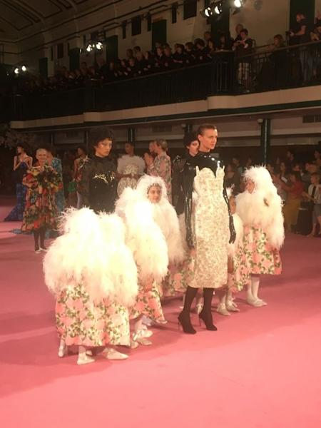 Richard Quinn presented the new collection in London