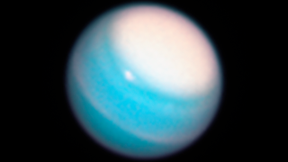 The Hubble Space Telescope discovers mysterious dark storm on Neptune