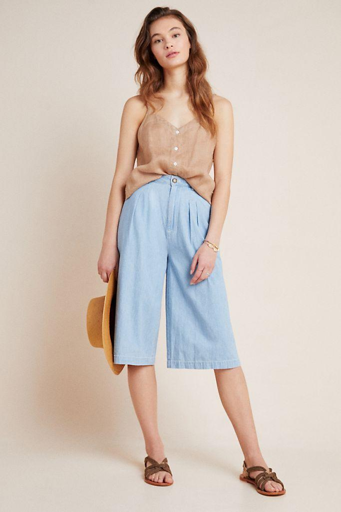Mina Chambray Culottes. Image via Anthropologie.