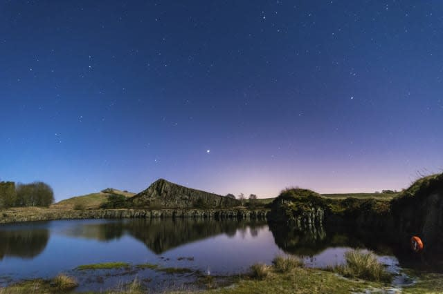 Starry Night at Cawfield Quarry