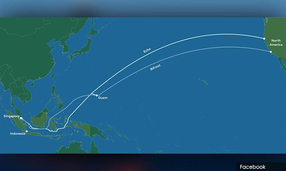 Google submarine cable from the US to Singapore and Indonesia.