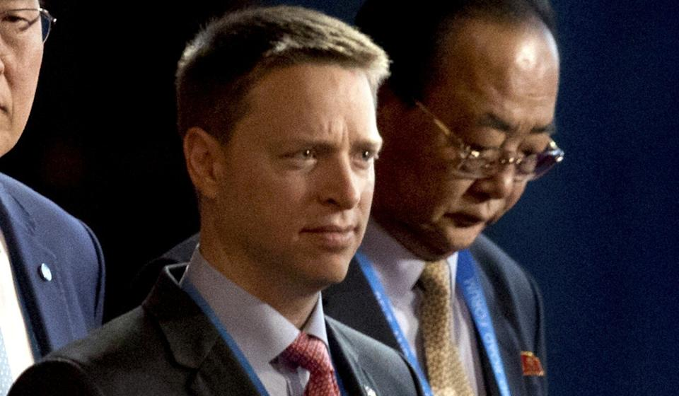 "The White House's deputy national security adviser Matt Pottinger, shown in 2017 in Beijing, said on Friday he could find ""no credible justification … in Chinese philosophy, religion or moral law for the concentration camps inside [China's] borders"". Photo: AP"