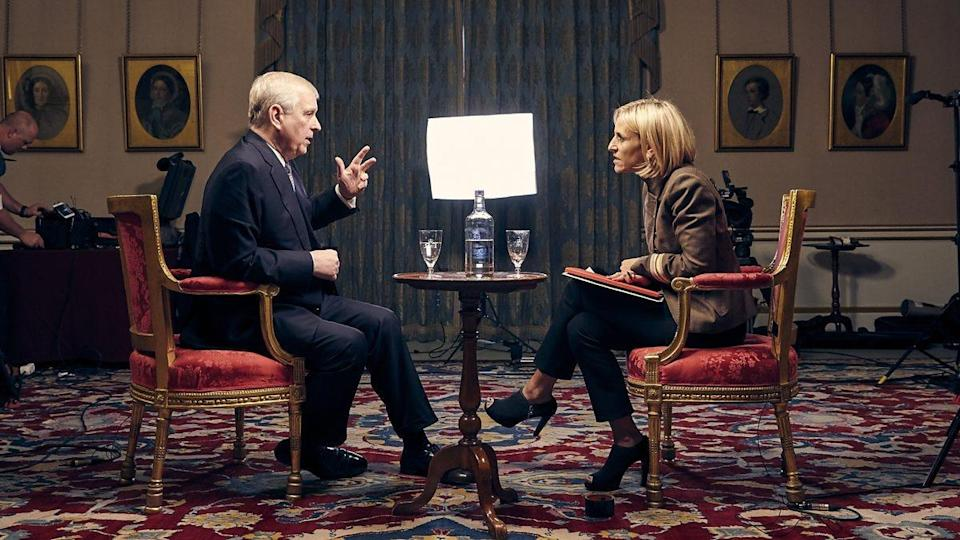 Prince Andrew and Emily Maitlis on BBC Newsnight.