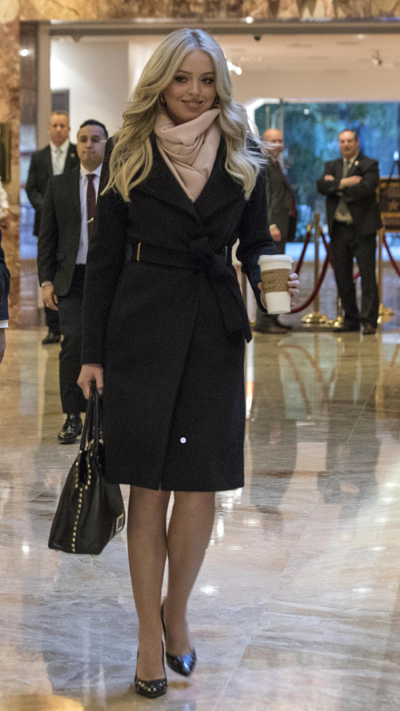 Tiffany Trump wore a jacket from the Ivanka Trump clothing line on January  19, 2017