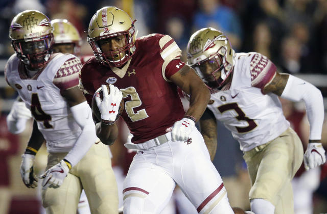 AJ Dillon is 18th in the nation in rushing yards despite only running the ball 26 times in Boston College's two blowout wins this season. (AP file photo)