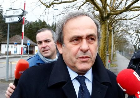 FILE PHOTO: UEFA President Michel Platini arrives at the FIFA headquarters in Zurich