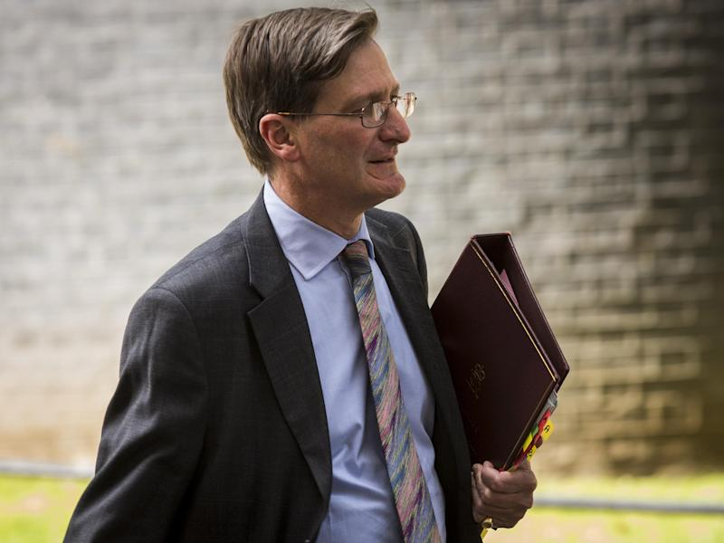 Dominic Grieve, former Attorney General, urged the Prime Minister to back down and give Parliament a binding say on final Brexit deal: Getty