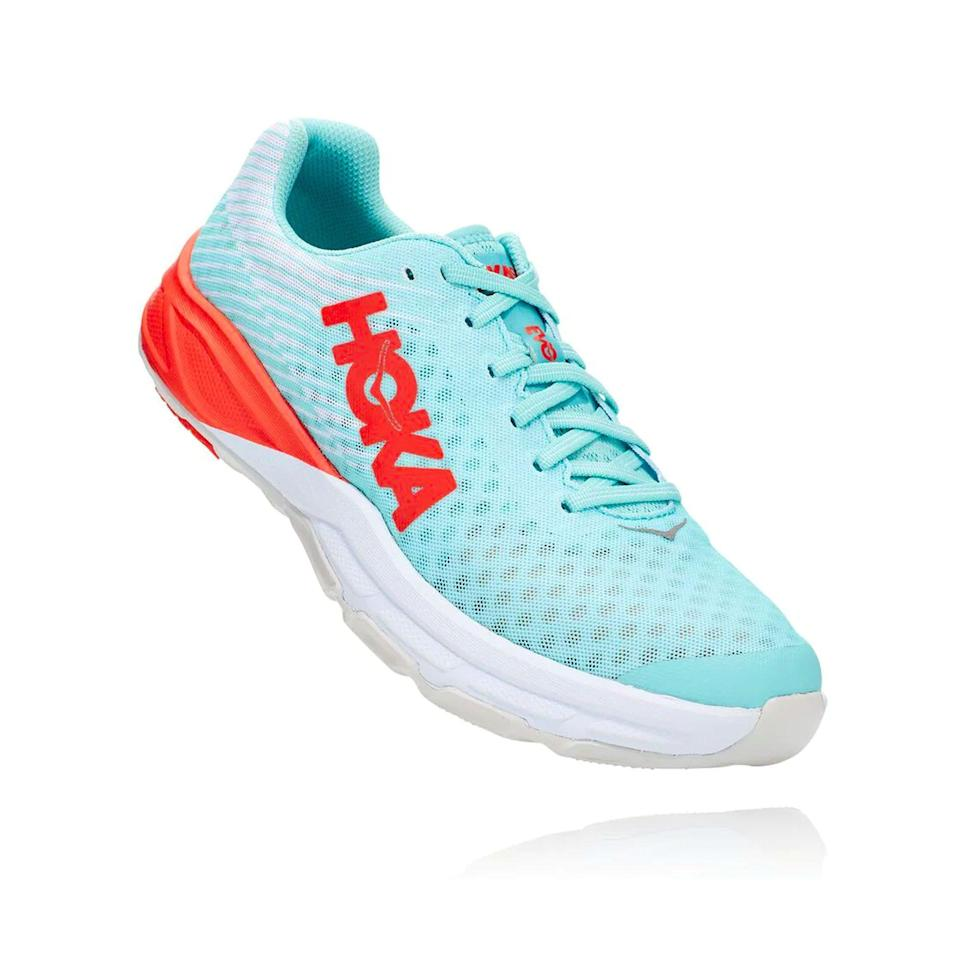 """<p><a href=""""https://go.redirectingat.com?id=74968X1596630&url=https%3A%2F%2Fwww.hokaoneone.com%2Fsale%2Fevo-carbon-rocket%2F1100049.html&sref=https%3A%2F%2Fwww.menshealth.com%2Ftechnology-gear%2Fg36099041%2Fhoka-one-one-2021-sale%2F"""" rel=""""nofollow noopener"""" target=""""_blank"""" data-ylk=""""slk:BUY IT HERE"""" class=""""link rapid-noclick-resp"""">BUY IT HERE</a></p><div class=""""product-slide-price""""><strong><del>$160</del> <br>$119.99</strong></div><p>Hoka's first carbon-plated shoe is also perhaps the most un-Hoka–like shoe you'll find. There's no rocker, the sole is relatively thin, and it isn't overly cushioned. But it's itching to be your partner in short road races or track workouts.</p>"""